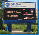 Virginia Space Center Electronic Message Sign