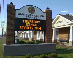 American Legion Post EMC Sign