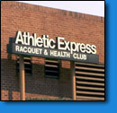 Athletic Express Racquet & Health Club Sign