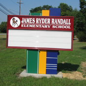 letter track school sign