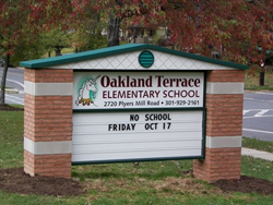 elementary school sign